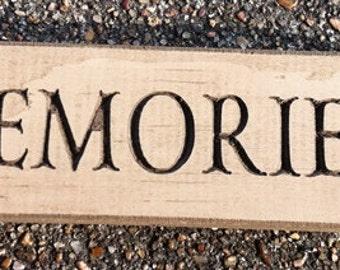 Primitive Country 6417 - Memories  Block  Shelf Sitter Wood Signs