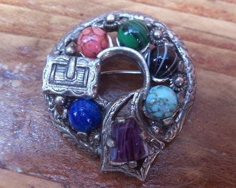 vintage buckle style Miracle brooch