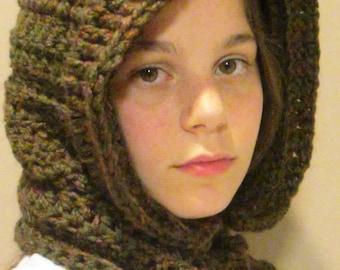 Crochet Pattern Hooded Neckwarmer Cowl Scarf Neck Warmer