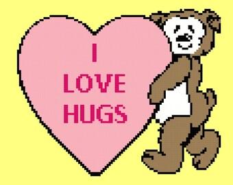SALE Crochet Pattern Chart  Baby Blanket Baby Afghan Teddy Bear Heart