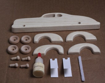 Handcrafted Wooden 1939 Ford Custom Coupe Kit 111K