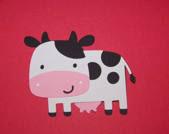12 Cow die cuts - 3 inches tall