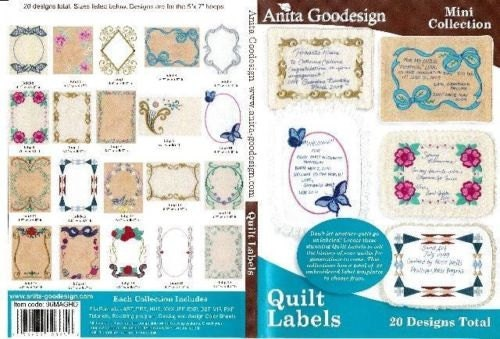 Embroidery Quilt Label Designs : Quilt Labels Anita Goodesign Embroidery Designs