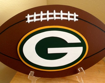 Green Bay Packers 3D Football Sign