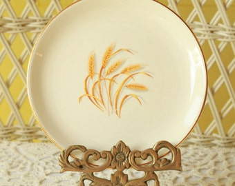 Bread and Butter Plates, Dessert Plates, Wheat Patterned Plates, Dinnerware. Antique Dishes, Party Dishes, Teaparty Dishes, Wheat