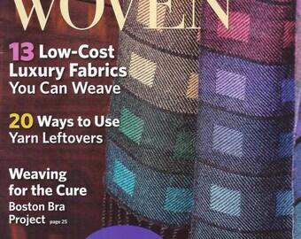 SALE!  Lonely Destash Magazine - Handwoven Sep/Oct 2009 - Excellent Condition