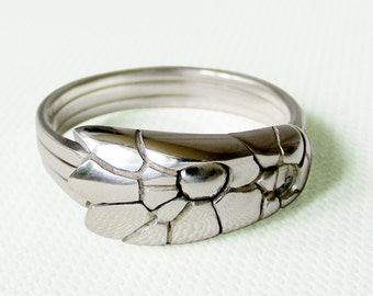 COBRA - Unique Puzzle Rings by PuzzleRingMaker - Sterling Silver or Gold - 3 Bands