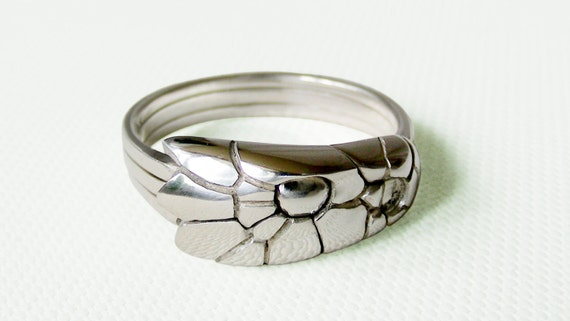 cobra unique puzzle rings by puzzleringmaker sterling