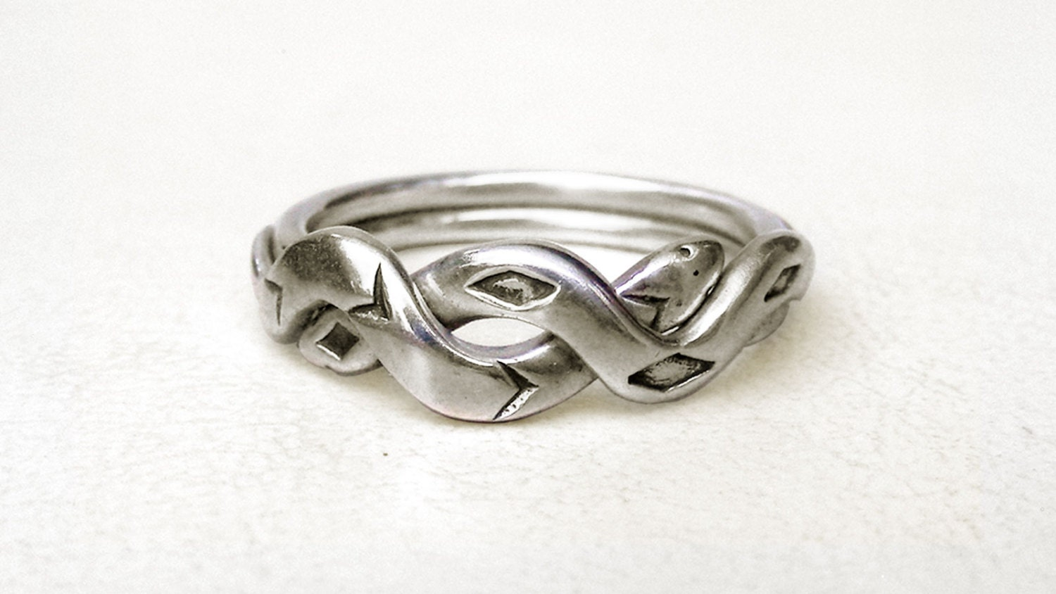snakes unique puzzle rings by puzzleringmaker sterling