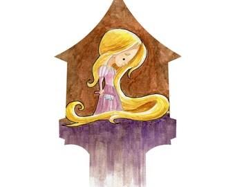 Rapunzel Watercolor