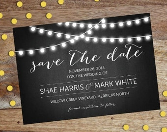 Save the Date Wedding Card Invites - Printable file