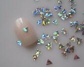 GD25-2 20g/bag Laser Silver Triangle Glitter Nail art Glitter Pieces Decoration Nail art decoration