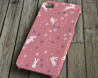 Rabbits - pink - iPhone 4/4S Case - iPhone 4/4S Cover - Plastic iPhone 4/4S Case