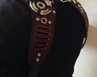 Black & Brown Leather Suspenders