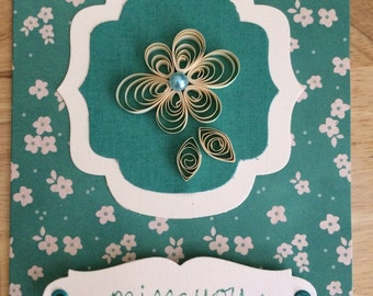 Floral 'Miss You' card