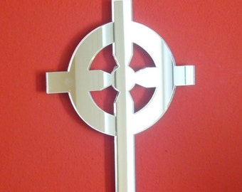 Gothic Cross Shaped Mirror - 5 Sizes  Available