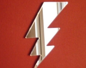 Lightning Mirror - 5 Sizes Available plus Packs of 10 Small Streaks of Lightning for Craftwork and Decorative Use