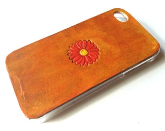 Leather iPhone 4s Case / Leather iPhone 4 Case - The Lodgepole Case - Sunflower