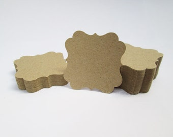 Light Brown Kraft Tag, Gift Tag, Kraft Earring Card Set of 100