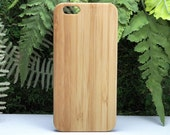 Blank iPhone 6S or iPhone 6 Case. Plain Bamboo Cover.  Eco-Friendly Wood. Add Personalization or Custom Design. iMakeTheCase