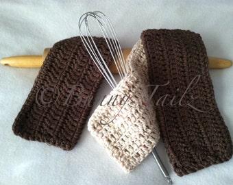 Wash Cloths Dish Cloths Spa Cloths Crochet Cotton Gifts Under 10 Brown Beige