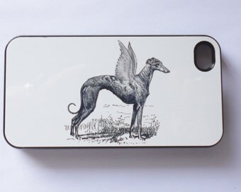 Iphone 7 plus  case 6 Iphone 5 iphone 4/4s5S 5C  Vintage Style Greyhound wings dogs  mobile cell phone cover snap case whimsical fantasy