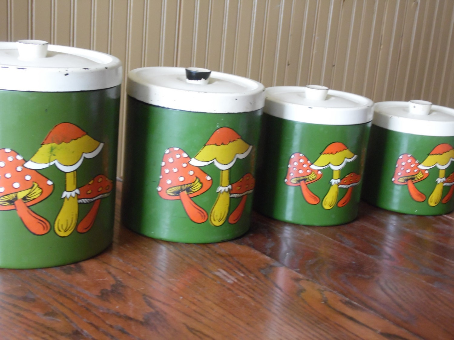 Mushroom Canisters Kitchen Canisters Mushroon Decor