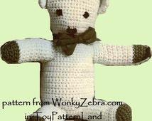 Toy Teddy Crochet Pattern PDF 517  from WonkyZebra