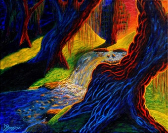"Grateful Dead Painting-Canvas Print ""Dead Forest"""