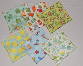Set of 6 pcs reusable snack bags