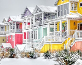 Snowy Beach Houses | Atlantic Beach, NC