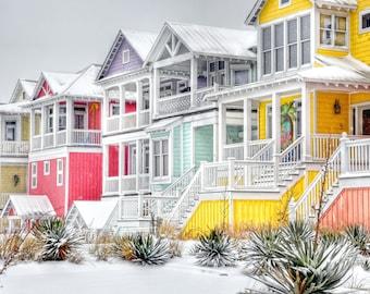 Snowy Beach Houses | Atlantic Beach, NC