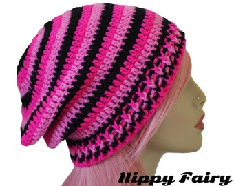 Hot Pink beanie Womans slouch beanie, Neon pink, Pink beanie