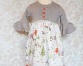 Candy Cane Lane Christmas zinnia dress