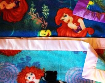 Custom Fleece Blanket with Satin Binding