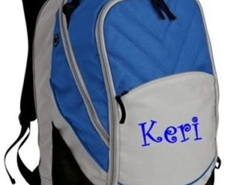 FREE SHIPPING - PERSONALIZED  Bookbag Backpack Monogrammed school tote  - New
