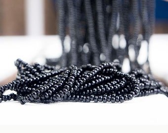 Black color Seed Beads (5 strands)