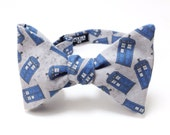 Wibbly Wobbly Timey Whimey TARDIS Doctor Who Bow Tie - bowtie, bowties, bow ties, Dr. Who, The Doctor, geeky, geek, geeky chic, comic con