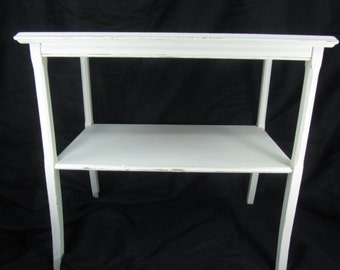 Shabby decor side table, nightstand , vintage side table, end table,table.furniture, chic decor,white table