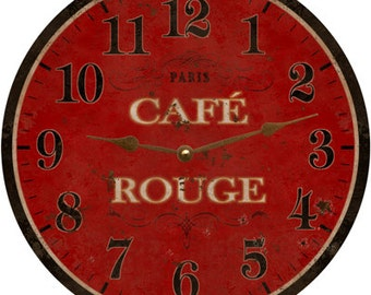 Cafe Rouge French Clock