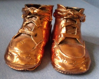 Bronzed Vintage Baby Shoes