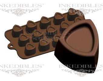 Silicone Chocolate Mold - 3D Almost-Triangle Shape