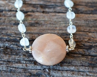 Sweet dream pink moonstone necklace
