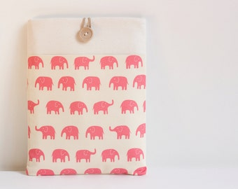 "15 inch Macbook Pro Retina sleeve case 15"" Custom Laptop 15.6  / Pink Elephant"