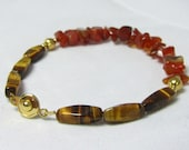 Agate and Tigerseye Bracelet