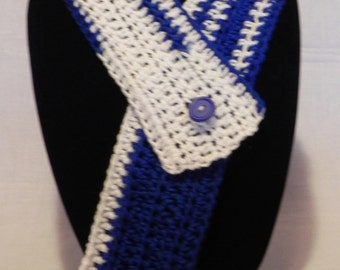 College Football Blue and White Cowl Neckwarmer