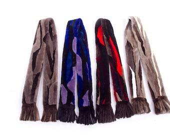 Sheared beaver scarf