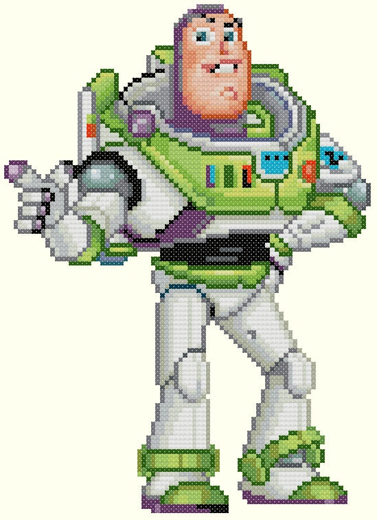 Knitting Pattern Toy Story Characters : Buzz Lightyear Cross Stitch Pattern-Toy Story, Disney from KeenahsCrossStitch...