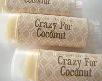 Crazy for Coconout - Vegan Lip Balm - Natural Lip Butter - Bath and body - Tropical flavor