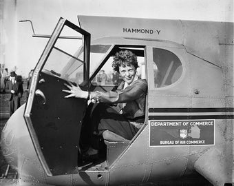 Amelia Earhart 1936 - Department of Commerce Airplane Photograph Photo Art Print